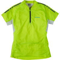 Madison Stellar women's short sleeved jersey, hi-viz yellow