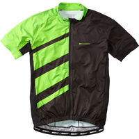 Madison Sportive Race men's short sleeve jersey, black / green flash