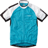 Madison Peloton men's short sleeve jersey, hawaiian blue