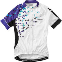 Madison Sportive women's short sleeve jersey, white / purple reign