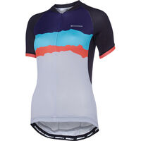 Madison Keirin women's short sleeve jersey, black/cloud grey torn stripes