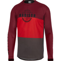 Madison Alpine men's long sleeve jersey, classy burgundy / true red