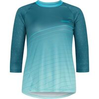 Madison Flux Enduro women's 3/4 sleeve jersey, maritime blue / nile blue