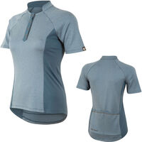 Pearl Izumi Women's, Select Escape Text Jersey, Blue Steel Herringbone