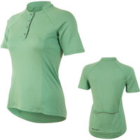 Pearl Izumi Women's, Select Escape Text Jersey, Green Spruce Herringbone