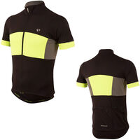 Pearl Izumi Men's, Elite Escape Semi Form Jersey, Black/Screaming Yellow