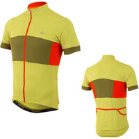 Pearl Izumi Men's, Elite Escape Semi Form Jersey, Citron/Avocado