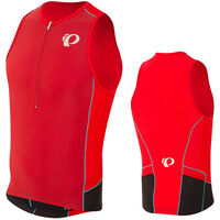 Pearl Izumi Men's, Elite Pursuit Tri Singlet, True Red/Chili Pepper