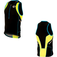 Pearl Izumi Men's, Elite In-R-Cool Tri Singlet, Black/Screaming Yellow, S