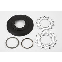"Brompton ""Sprocket set incl chain guide disc 3/32"""" 9-spline - 13/16T (BWR 6-spd)"""