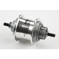 Brompton Replacement rear hub only for 6 spd - BWR 3-spd (Silver)